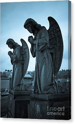 Angels In Prayer Canvas Print by Amy Cicconi