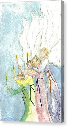 Floating Girl Canvas Print - Angels by Jeanne Hyland-Curtin