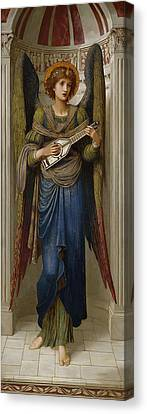 Angels Canvas Print by John Melhuish Strudwick