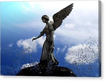 Angel's Love Canvas Print by Milena Ilieva