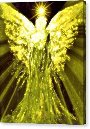 Angels Of The Golden Light Anscension II Canvas Print by Alma Yamazaki