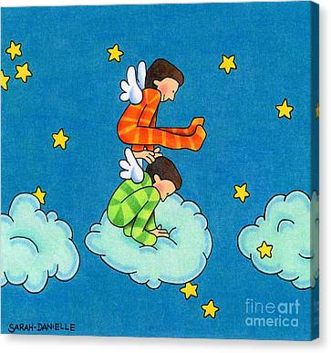 Angels Play Canvas Print by Sarah Batalka