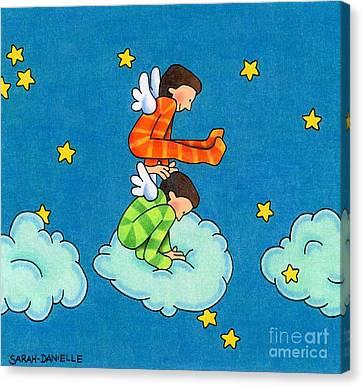 The Heavens Canvas Print - Angels Play by Sarah Batalka
