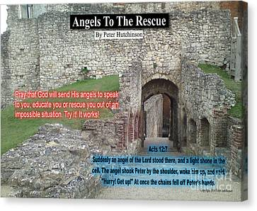 Angels To The Rescue Canvas Print