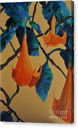 Angel's Trumpet Song Canvas Print by Lynn Rattray