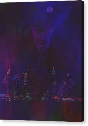 Angels Watch Over Us Canvas Print by Diane Parnell