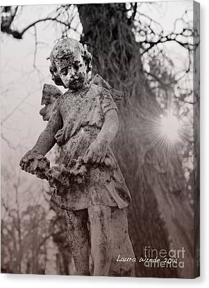 Angels Will Watch Over You Canvas Print by Artist and Photographer Laura Wrede