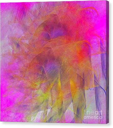 Canvas Print featuring the digital art Angels Wings by Alexa Szlavics