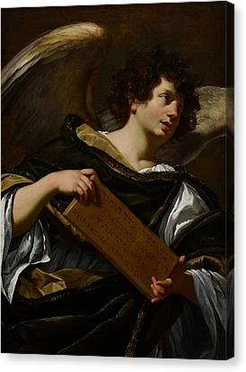 Angels With Attributes Of The Passion Canvas Print by Simon Vouet