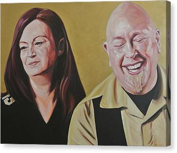 Angie And Aaron Canvas Print by Steve Hunter