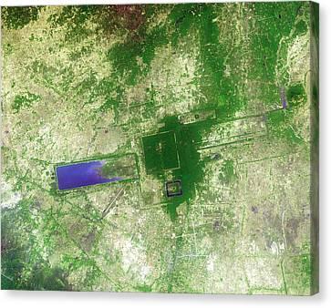 Angkor Thom Canvas Print - Angkor by Nasa/gsfc/meti/japan Space Systems/u.s.,japan Aster Science Team