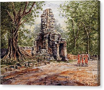 Angkor Temple Gate Canvas Print