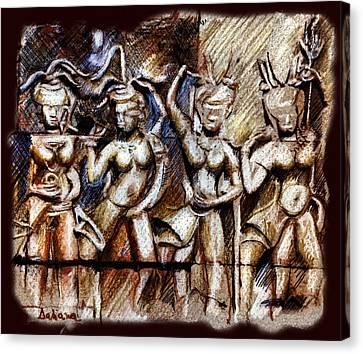 Angkor Wat - Apsara Canvas Print by Daliana Pacuraru
