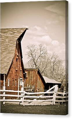 Angle Top Barn Canvas Print by Marilyn Hunt