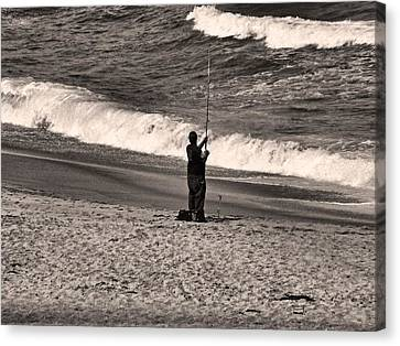 Canvas Print featuring the photograph Angler by Bob Wall