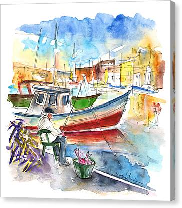 Angler In Palermo Canvas Print by Miki De Goodaboom