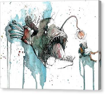 Angler  Canvas Print by Michael  Pattison