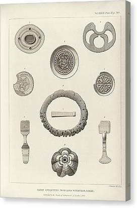 Anglo-saxon Artefacts Canvas Print