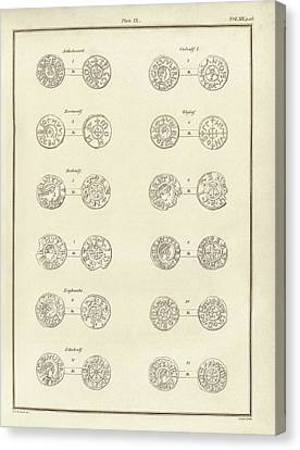 Anglo-saxon Coins Canvas Print by Middle Temple Library