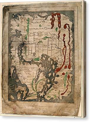 Anglo-saxon World Map Canvas Print by British Library