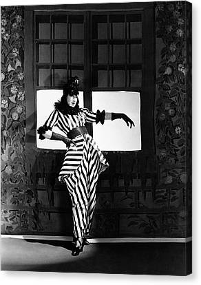 Angna Enters Miming While Wearing A Costume Canvas Print