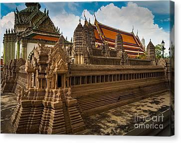 Angor Wat Miniature Canvas Print by Inge Johnsson