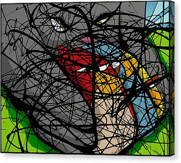 Angry Bird Catcher - Extraction Canvas Print