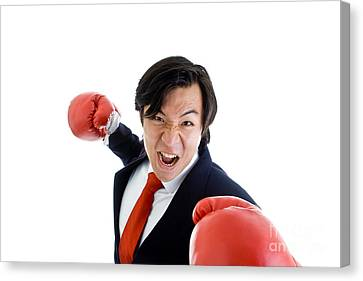 Angry Business Man Canvas Print by Jim Pruitt