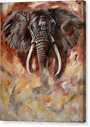 Angry Elephant Canvas Print by Jamal Al Jomaily