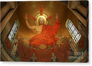 Angry God Mosaic At The Shrine Of The Immaculate Conception In Washington Dc Canvas Print