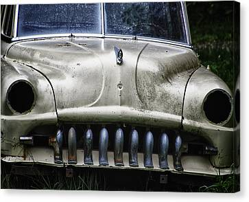 Rusted Cars Canvas Print - Angry by Joan Carroll