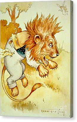 Angry Lion 1907 Canvas Print by Padre Art