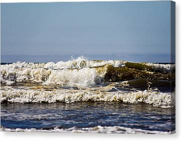 Water Canvas Print featuring the photograph Angry Ocean by Aaron Berg