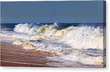 Cape Cod Scenery Canvas Print - Angry Sea by Bill Wakeley