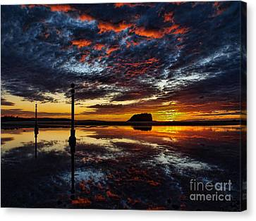 Canvas Print featuring the photograph Angry Sky by Trena Mara