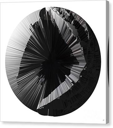 Angst IIi Painting As A Spherical Depth Map. 2 Canvas Print