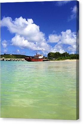 Anguilla Mr. Teds Boat Canvas Print by Jennifer Lamanca Kaufman