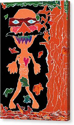 Anguished Scream V1 Canvas Print by Kenneth James