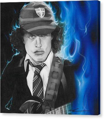 Angus Canvas Print - Angus Young - ' Angus ' by Christian Chapman Art