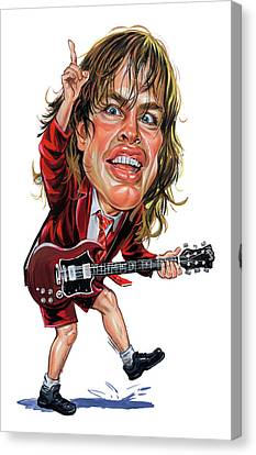 Angus Canvas Print - Angus Young by Art