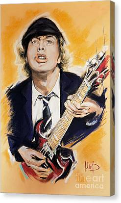 Angus Canvas Print - Angus Young by Melanie D