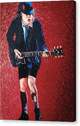 Angus Young Canvas Print by Taylan Apukovska