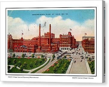 Anheuser Busch Plant 1943 Canvas Print