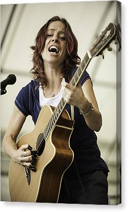 Ani Difranco II Canvas Print by David Simchock