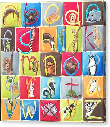 Animal Alphabet Canvas Print by Tracie Davis