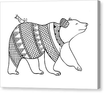 Animal Bear Canvas Print by Neeti Goswami