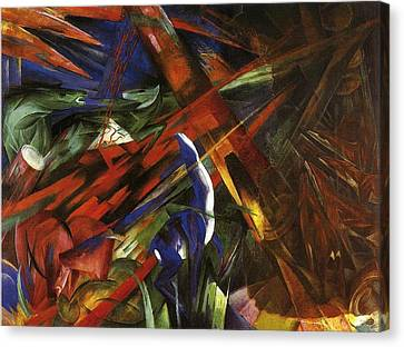 Animal Destinies Canvas Print by Franz Marc