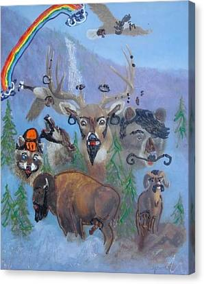 Canvas Print featuring the painting Animal Equality by Lisa Piper