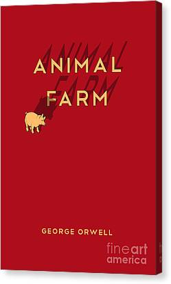 Animal Farm Book Cover Poster Art 1 Canvas Print by Nishanth Gopinathan