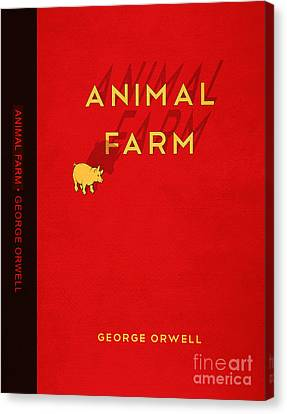 Animal Farm Book Cover Poster Art 2 Canvas Print by Nishanth Gopinathan